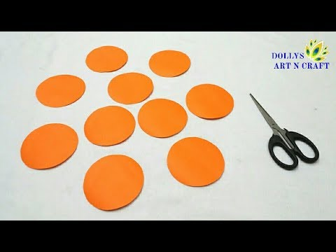 Paper Craft | DIY Paper Flower (Easy) | How to make Flower with Coloured Paper |