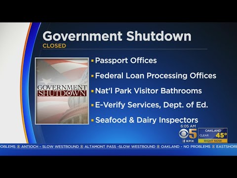 FEDERAL SHUTDOWN: What services are being impacted in Bay Area by federal shutdown