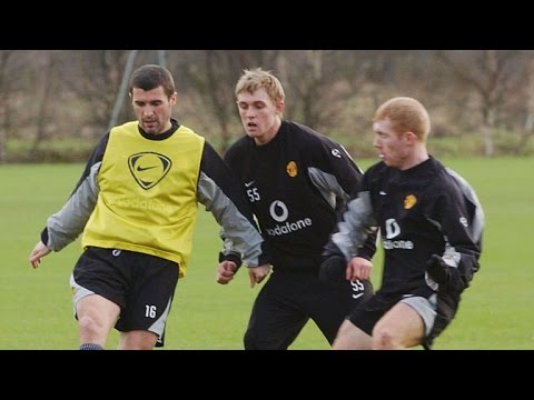 Story - Roy Keane chases Denis Irwin down in training