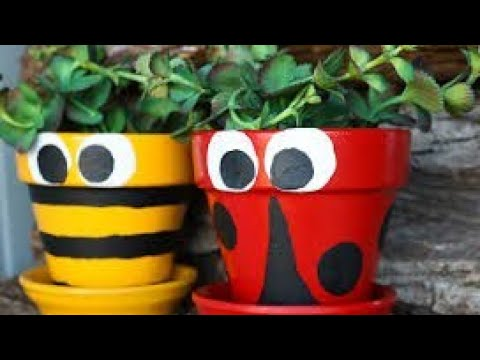 Easy Pot Painting Ideas designs decorations  DIY tutorials of how to decorate or paint clay pots