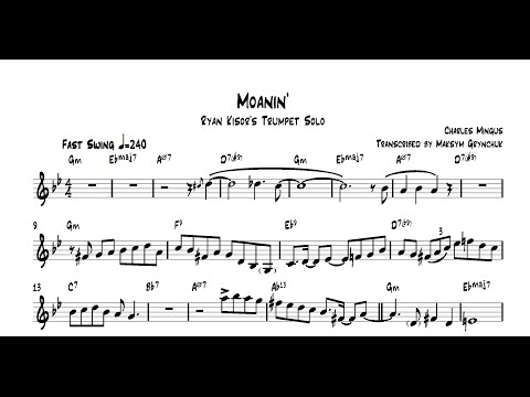 Ryan Kisor - Moanin' Trumpet Solo