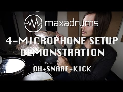 4-Microphone Recording Setup Demonstration