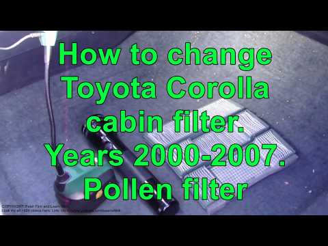 how to change cabin air filter toyota corolla