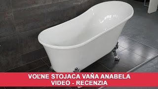 Voľne stojaca vaňa Anabela - VIDEO recenzia