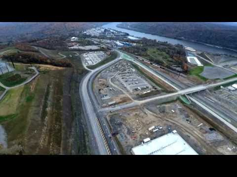 Shell Cracker Plant construction in Beaver County Pa. 10-30-2016