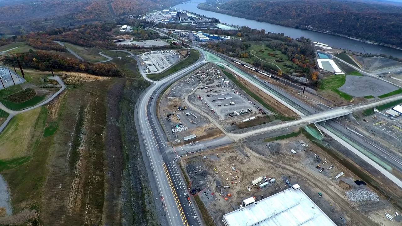 Shell Cracker Plant construction in Beaver County Pa  10-30-2016