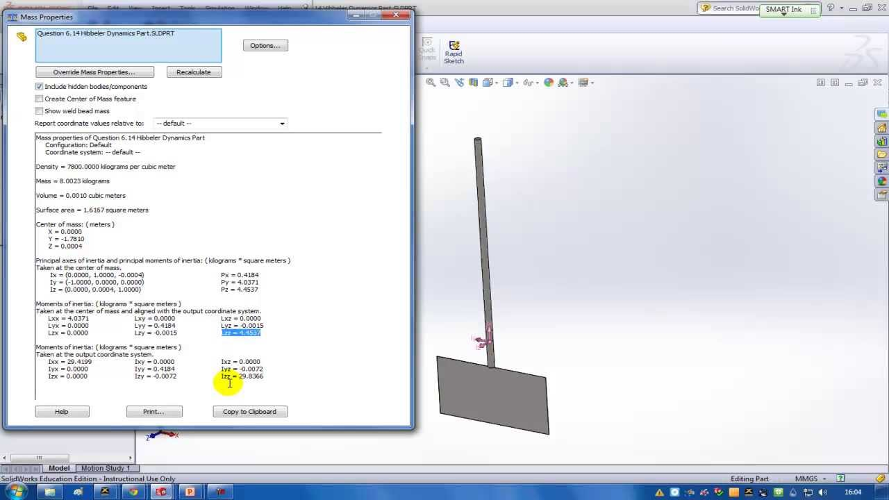 Dynamics Presentation - Mass moment of inertia