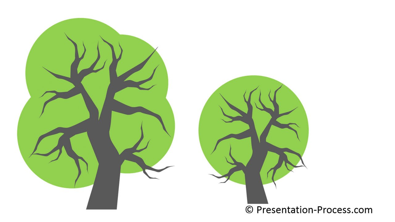 how to use bezier curve in powerpoint to create tree series part