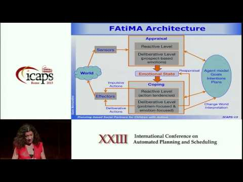 ICAPS 2013: Sara Bernardini - Planning Based Social Partners for Children with Autism