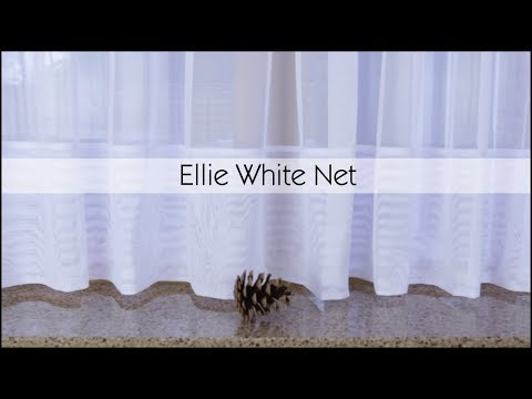 Ellie White Plain Net Curtains - Woodyatt Curtains