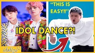 BTS IDOL DANCE CHALLENGE - ASIAN AMERICANS TRY LEARNING KPOP DANCE CHOREOGRAPHY - 學BTS IDOL舞蹈挑戰