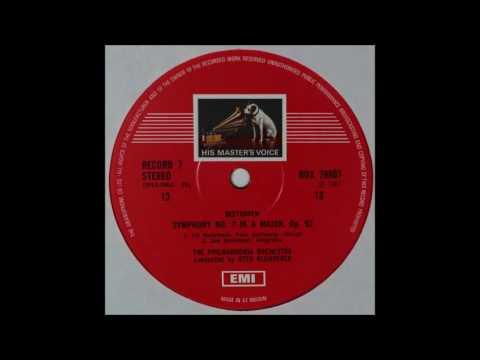 Beethoven, Symphony No 7, Klemperer