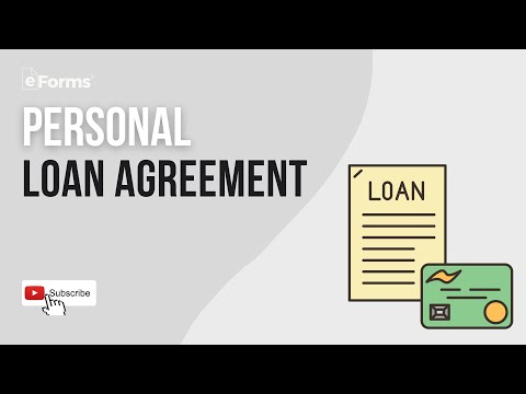 Personal Loan Agreement - EXPLAINED
