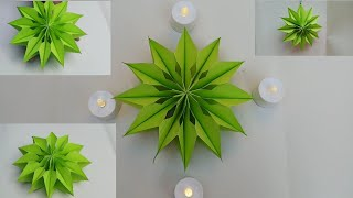 3D paper snowflakes,How to make paper Christmas snowflakes,DIWALI decoration,homemade decoration