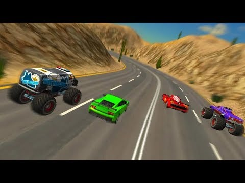 Crazy Cars Vs Monster Truck Game Hd Android Gameplay Free Racing Games Download Games For Android Youtube