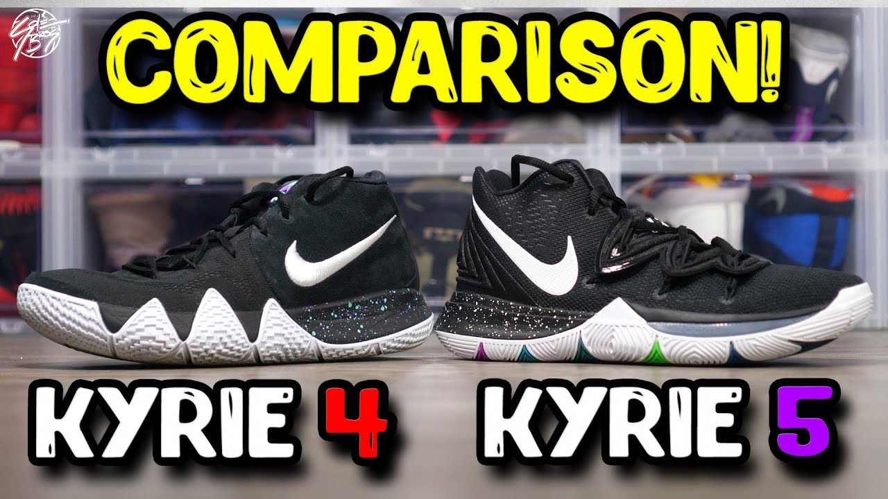 d8e25e55305 Nike Kyrie 5   Kyrie 4 Comparison! - YouTube