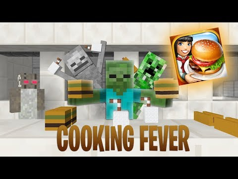 Monster School : COOKING FEVER CHALLENGE + GRANNY - Minecraft Animation