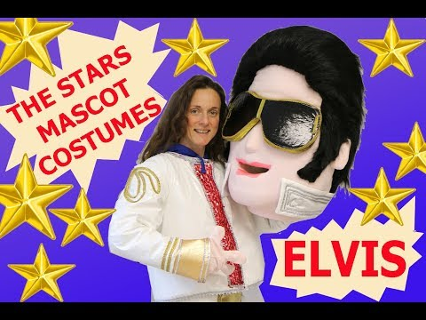 Elvis Presley mascot character, that I made for the karaoke party