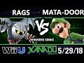 S@X 252 Smash 4 - Rags (Metaknight) Vs. Mata-Door (Luigi, Wario) - Wii U Winners Semis