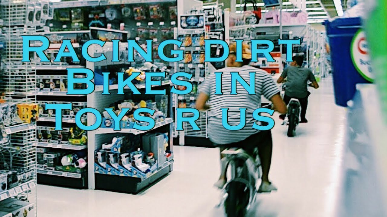 Racing Dirt Bikes In Toys R Us Youtube