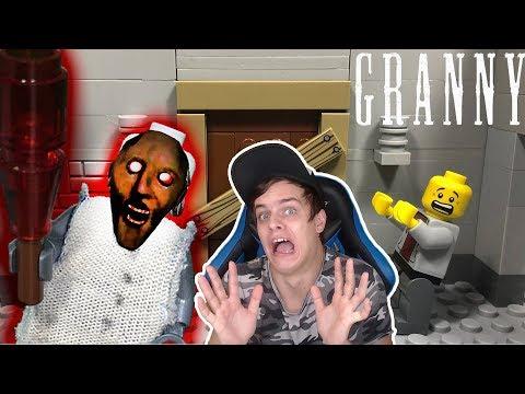 БАЗЯ СМОТРИТ - LEGO Мультфильм Granny / Horror game Granny / LEGO Stop Motion