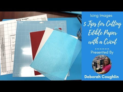 Cutting Edible Paper with #Cricut Explore