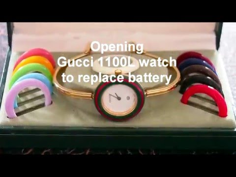 65fabaad861 Replacing battery in a Gucci Watch 1100l - YouTube