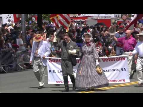 Sons and Daughters of the Confederacy march in the 2014 National Memorial Day Parade