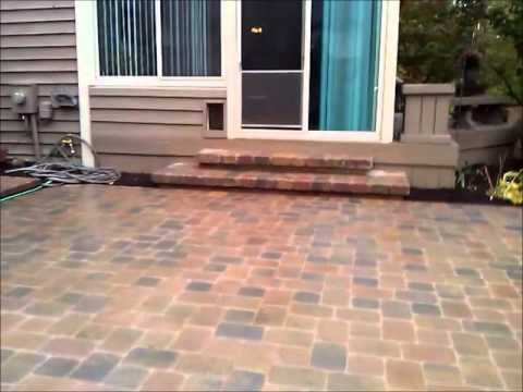 Veneering A Older Concrete Patio With Pavers, And Building New Steps To  Match