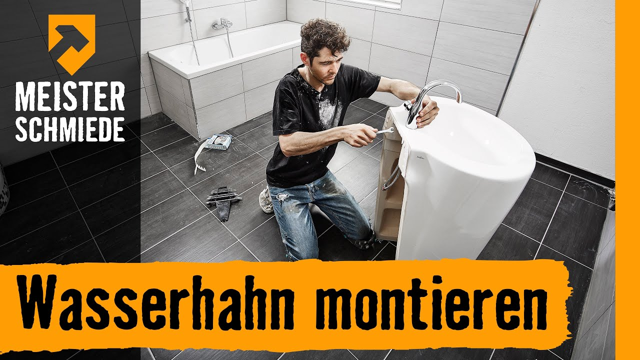 wasserhahn montieren hornbach meisterschmiede youtube. Black Bedroom Furniture Sets. Home Design Ideas
