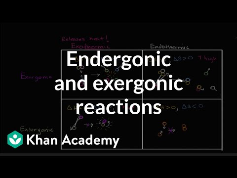 Endergonic, exergonic, exothermic, and endothermic reactions | Khan Academy