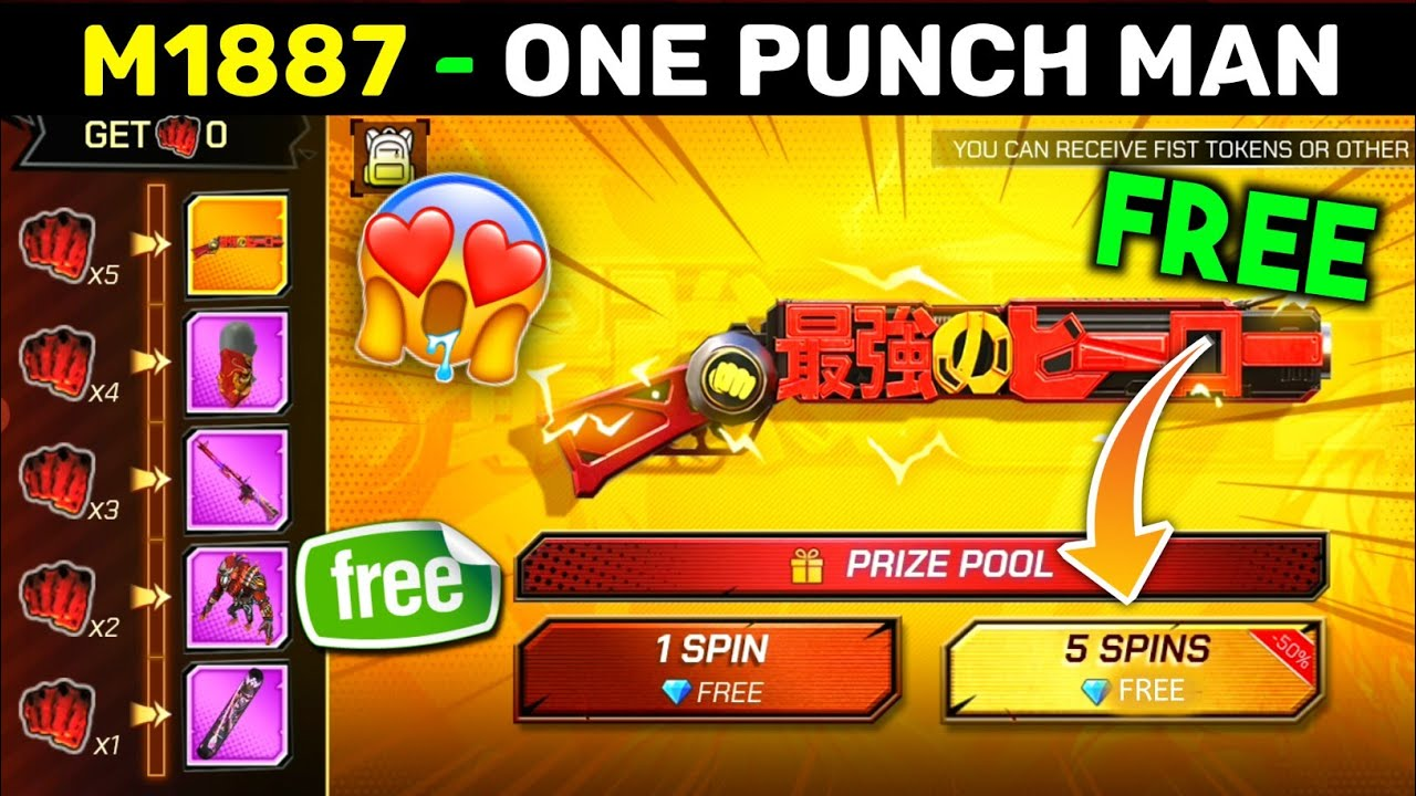 NEW M1887 ONE PUNCH MAN EVENT FREE FIRE || FREE FIRE NEW EVENT TODAY || NEW M1887 EVENT FREE FIRE