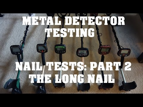 Metal Detecting:  Nail Tests - Part 2 - The Long Nail