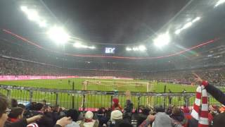 Atmosphere in the Allianz arena when Bayern Munich score
