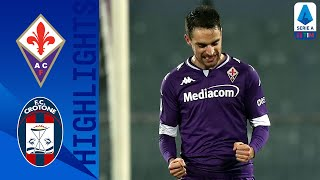Crotone attempts comeback in second half with goal from simy but it wasn't enough, fiorentina secure 3 points at home bonaventura and vlahović goals.   ...
