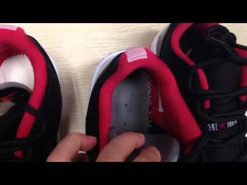 Air Jordan 11 Low Bred real and fake compare review