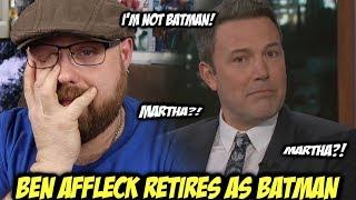 Ben Affleck Retires As Batman on Jimmy Kimmel!!!