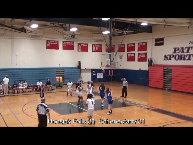 Game Highlights Girls' Varsity: Hoosick Falls 60 vs Schenectady 53 (F)