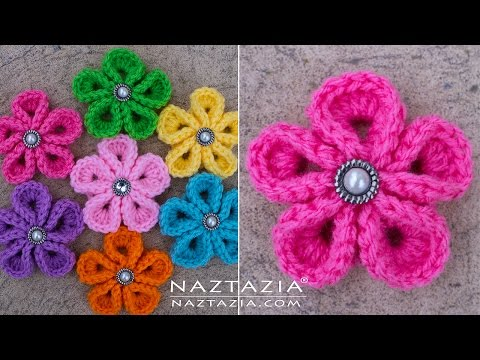 DIY Tutorial – How to Crochet Kanzashi Flower – Flowers of Japan