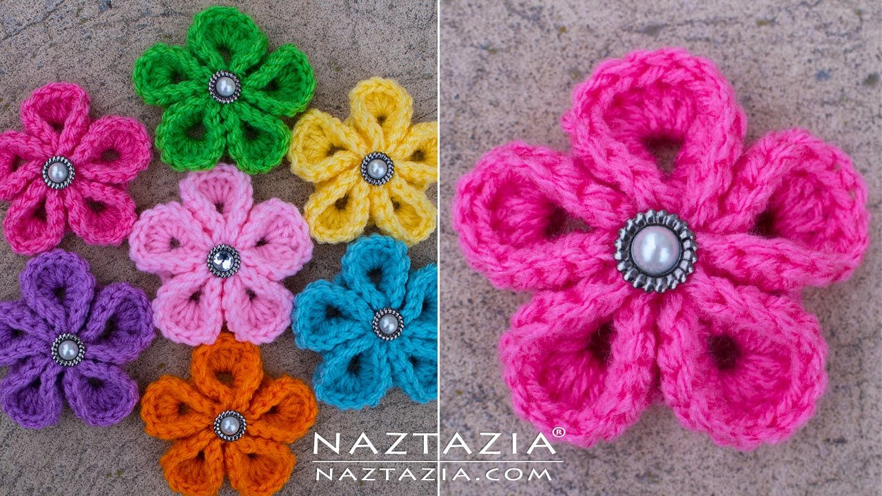 diy tutorial how to crochet kanzashi flower flowers of japan youtube [ 1280 x 720 Pixel ]