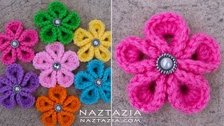 DIY Tutorial - How to Crochet Kanzashi F...