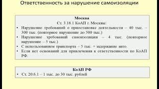 Штраф за нарушение самоизоляции / Penalty for violation of self-isolation