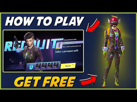 HOW TO PLAY NEW RECRUIT EVENT IN PUBG MOBILE !! GET PERMANENT OUTFIT