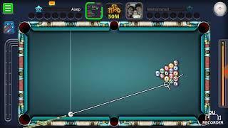 Kebetulan ataw emang jago, billiard 8 ball Pool. Sekali tembak masuk semua gan