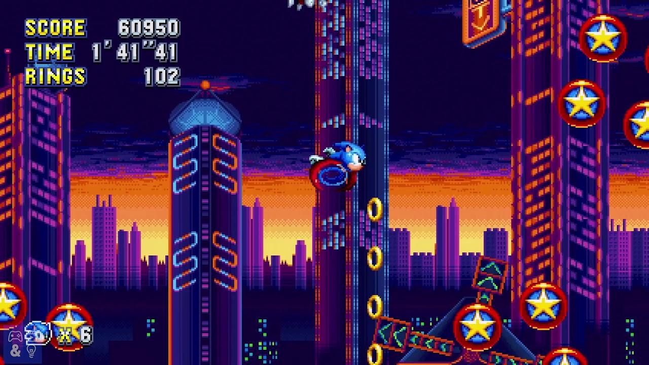 Sonic Mania - Studiopolis Zone Act 1 + Boss Fight
