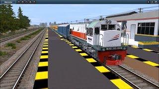 TRAINZ Simulator Indonesia | Persilangan sesama KA Sritanjung di Stasiun Sepanjang