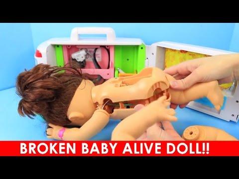 BROKEN BABY ALIVE DOLL!! Slime Challenge Breaks Baby Alive Lucy Pull Apart Inside to Fix Goo