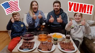 New Zealand Family Tries American Homemade Snacks sent in by Subscriber!!