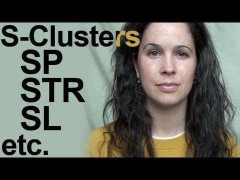 S Consonant Clusters -- American English Pronunciation