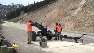 WYDOT tests new M101 Howitzer